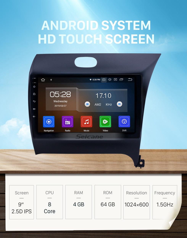 Seicane OEM 9 inch Android 10.0 Radio for 2012-2016 Kia K3 RHD Bluetooth HD Touchscreen GPS Navigation Carplay support Rear camera