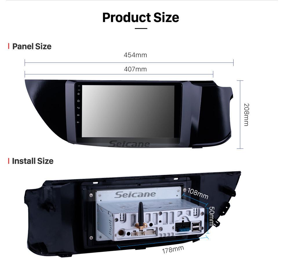 Seicane 2015-2018 Suzuki Alto K10 Android 10.0 9 inch GPS Navigation Radio Bluetooth HD Touchscreen WIFI USB Carplay support Digital TV