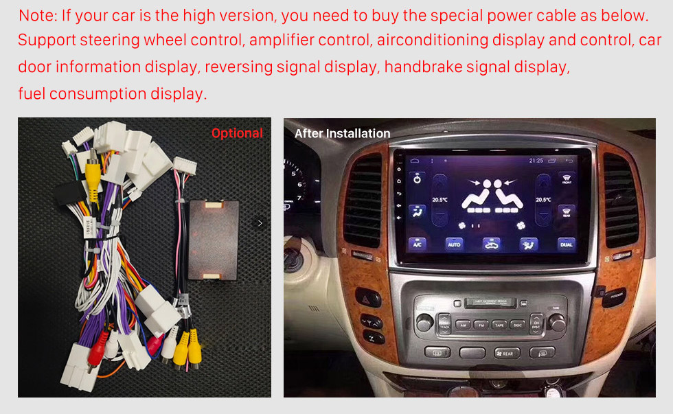 Seicane 10.1 inch 2006 Toyota Cruiser Auto A/C Android 10.0 GPS Navigation Radio Bluetooth HD Touchscreen AUX Carplay support Mirror Link