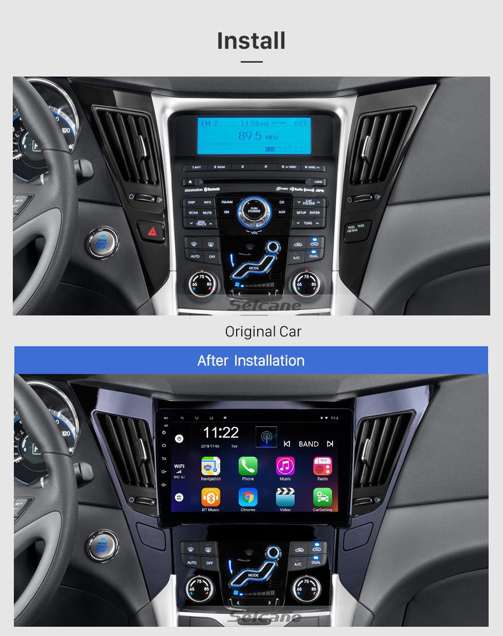 Seicane HD Touchscreen 2011-2015 Hyundai Sonata 8 Android 10.0 9 inch GPS Navigation Radio Bluetooth WIFI USB Carplay support DAB+ TPMS
