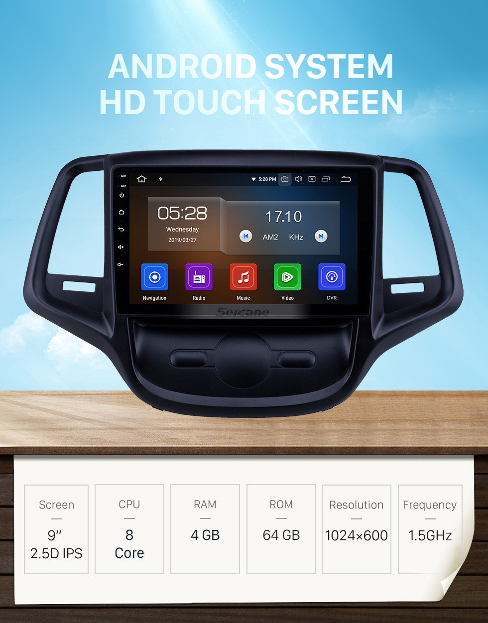 Seicane 9 inch Android 10.0 GPS Navigation Radio for 2015 Changan EADO with HD Touchscreen Carplay AUX Bluetooth support 1080P