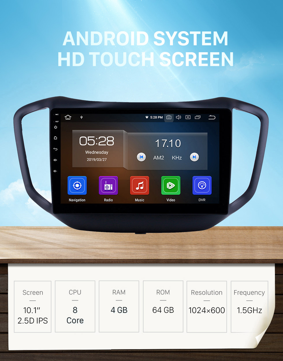 Seicane 10.1 inch HD Touchscreen 2014-2017 Chery Tiggo 5 Android 10.0 GPS Navigation Radio Bluetooth WIFI Carplay support TPMS OBD2
