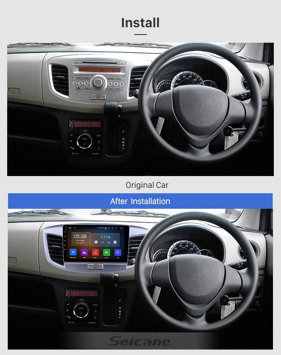 Seicane 9 inch Android 10.0 GPS Navigation Radio for 2015 Suzuki Wagon with HD Touchscreen Carplay AUX Bluetooth support 1080P