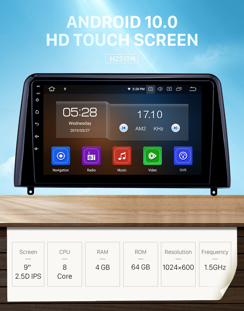Seicane Android 10.0 9 inch GPS Navigation Radio for 2018 Kia Forte with HD Touchscreen Carplay AUX WIFI USB Bluetooth support DVR TPMS DAB+