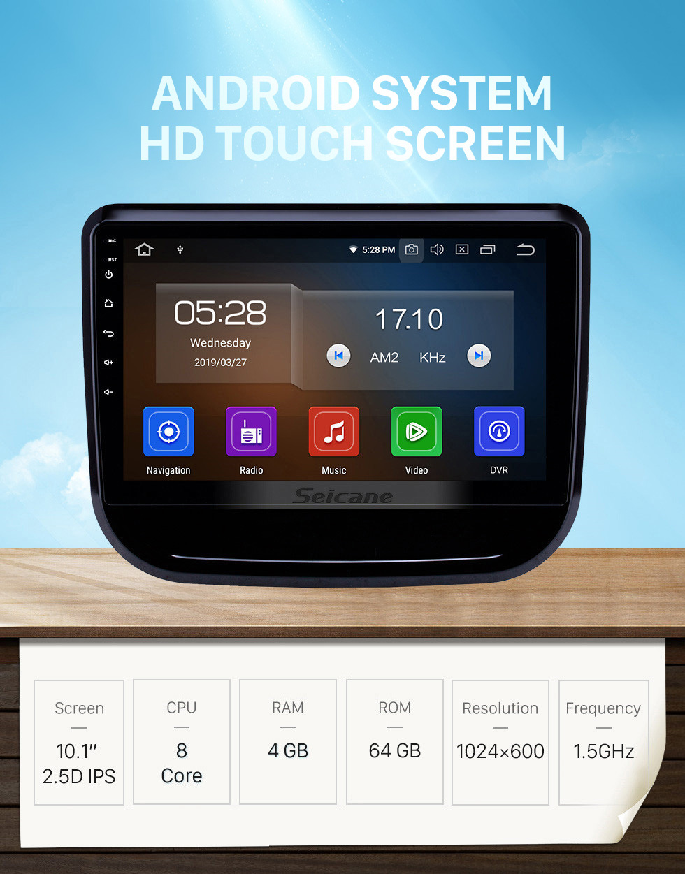 Seicane 10.1 inch Android 10.0 Radio for 2017-2018 Changan CS55 Bluetooth Touchscreen GPS Navigation Carplay USB AUX support TPMS DAB+ SWC