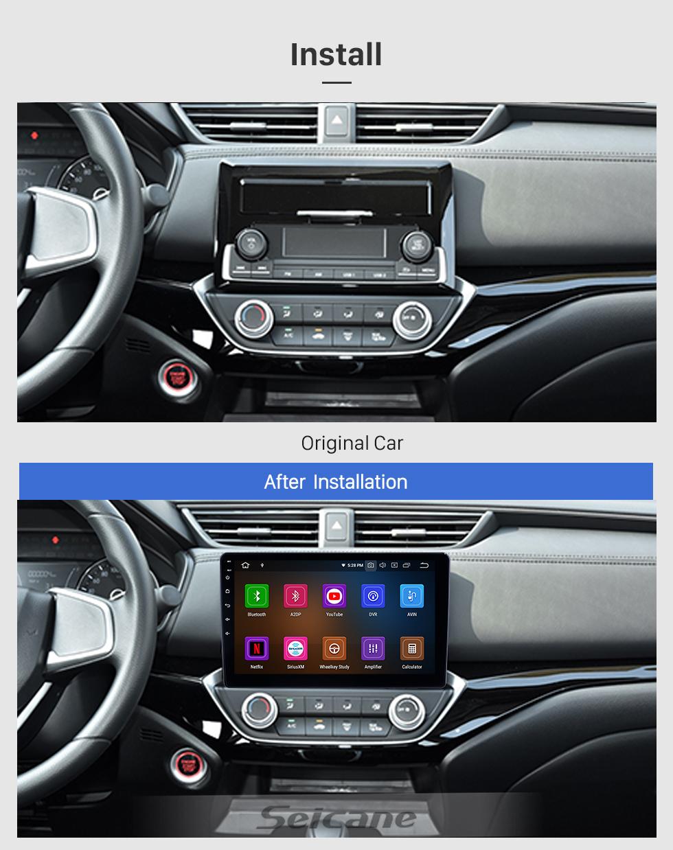 Seicane 10.1 pulgadas 2018-2019 Honda Crider Android 10.0 Navegación GPS Radio Bluetooth HD Pantalla táctil AUX USB WIFI Carplay ayuda OBD2 1080P