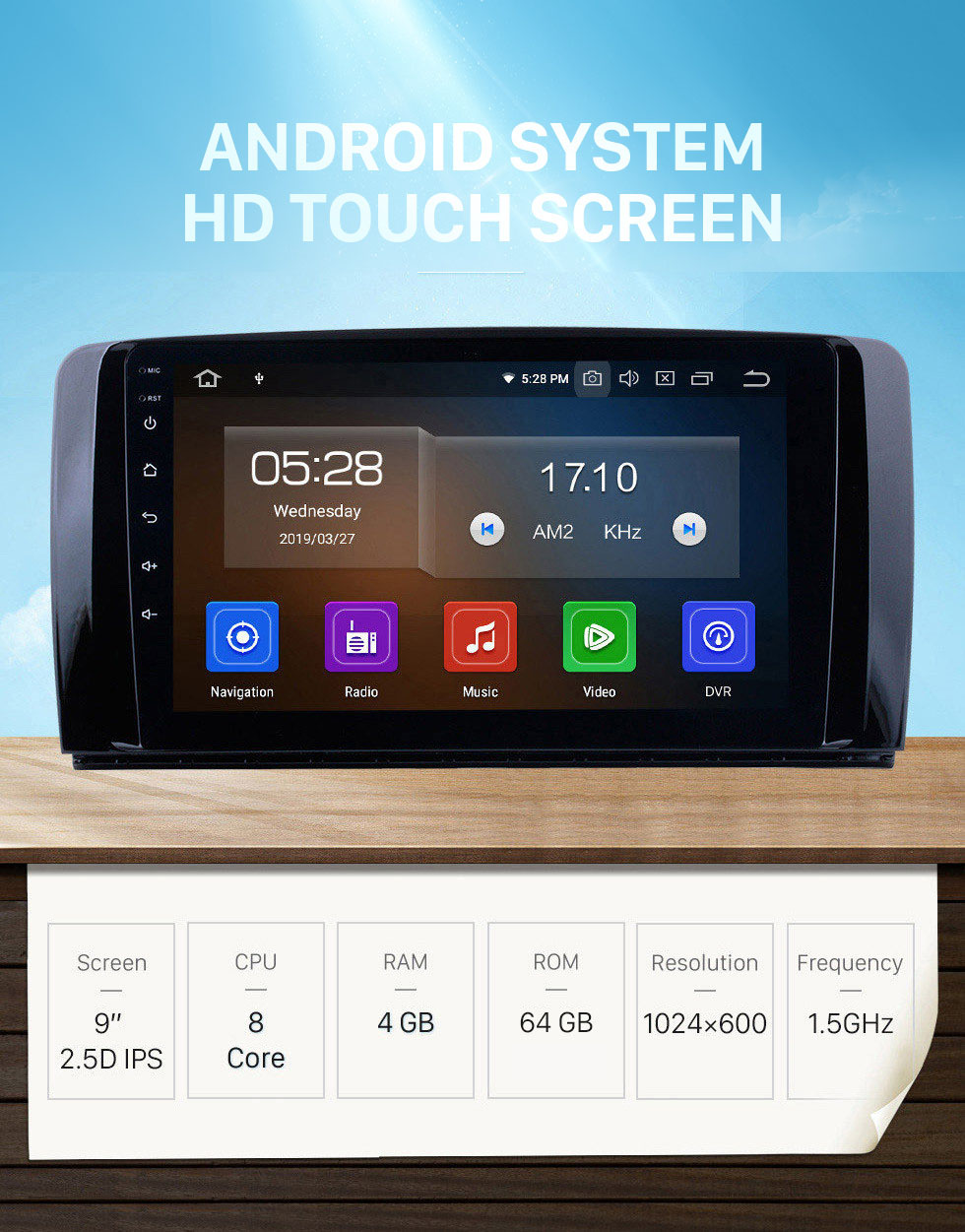 Seicane 9 Inch OEM Android 10.0 Radio Capacitive Touch Screen For 2006-2013 Mercedes Benz R Class W251 R280 R300 R320 R350 R63 Support 3G WiFi Bluetooth GPS Navigation system TPMS DVR OBD II AUX Headrest Monitor Control Video Rear camera USB SD