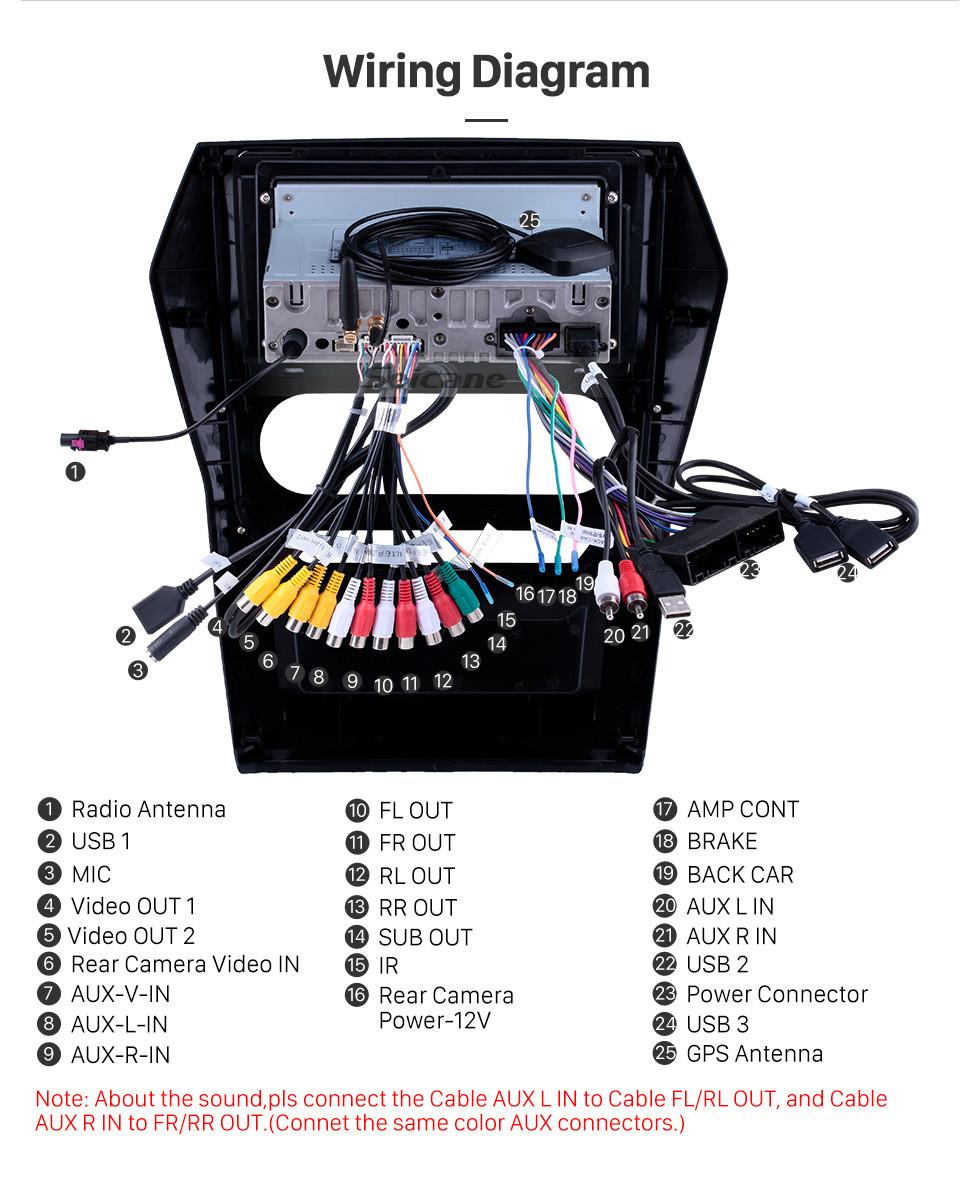 Seicane Pantalla táctil HD 2015 Mahindra Scorpio Auto A / C Android 10.0 9 pulgadas Navegación GPS Radio Bluetooth USB Carplay WIFI AUX apoyo DAB + OBD2