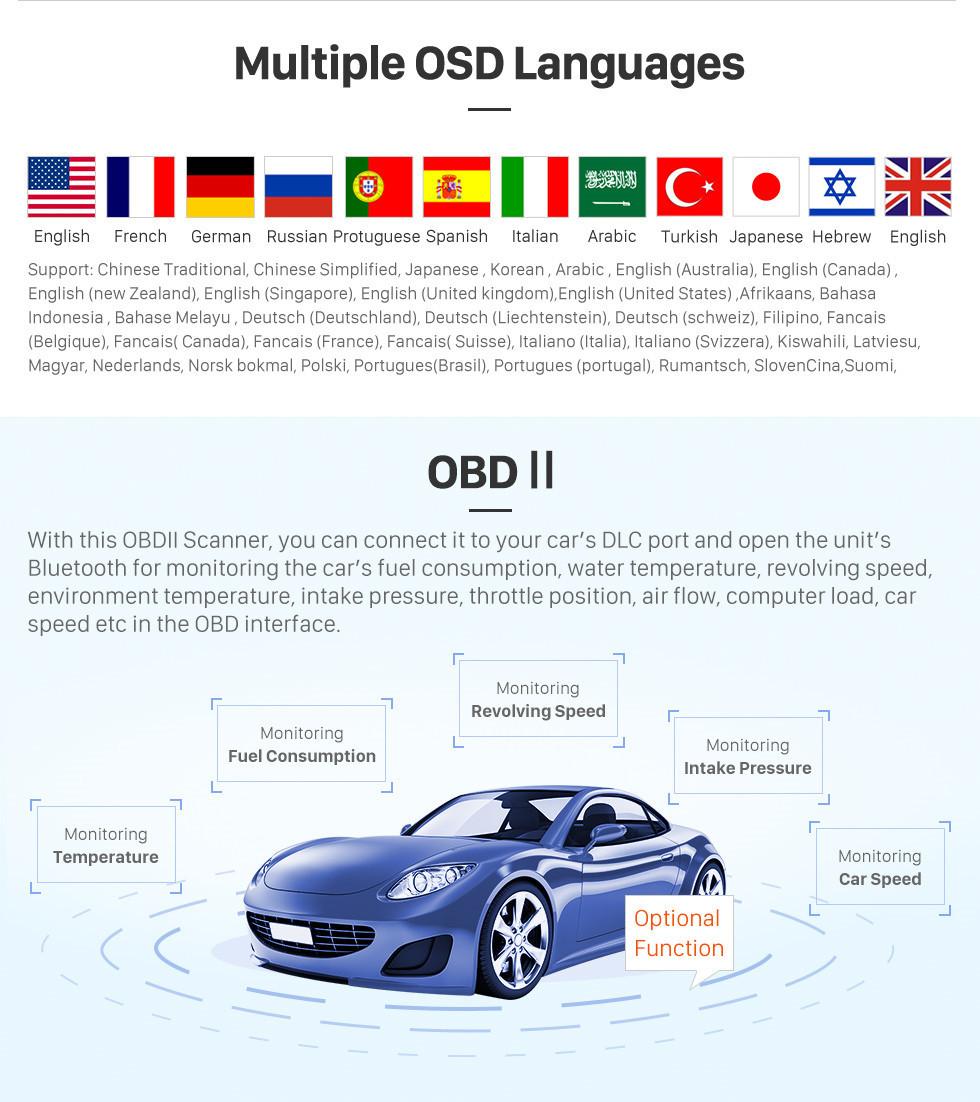 Seicane Android 10.0 9-дюймовый GPS-навигатор для 2015 Mahindra Scorpio Руководство A / C с HD сенсорным экраном Carplay Bluetooth WIFI USB AUX с поддержкой TPMS OBD2