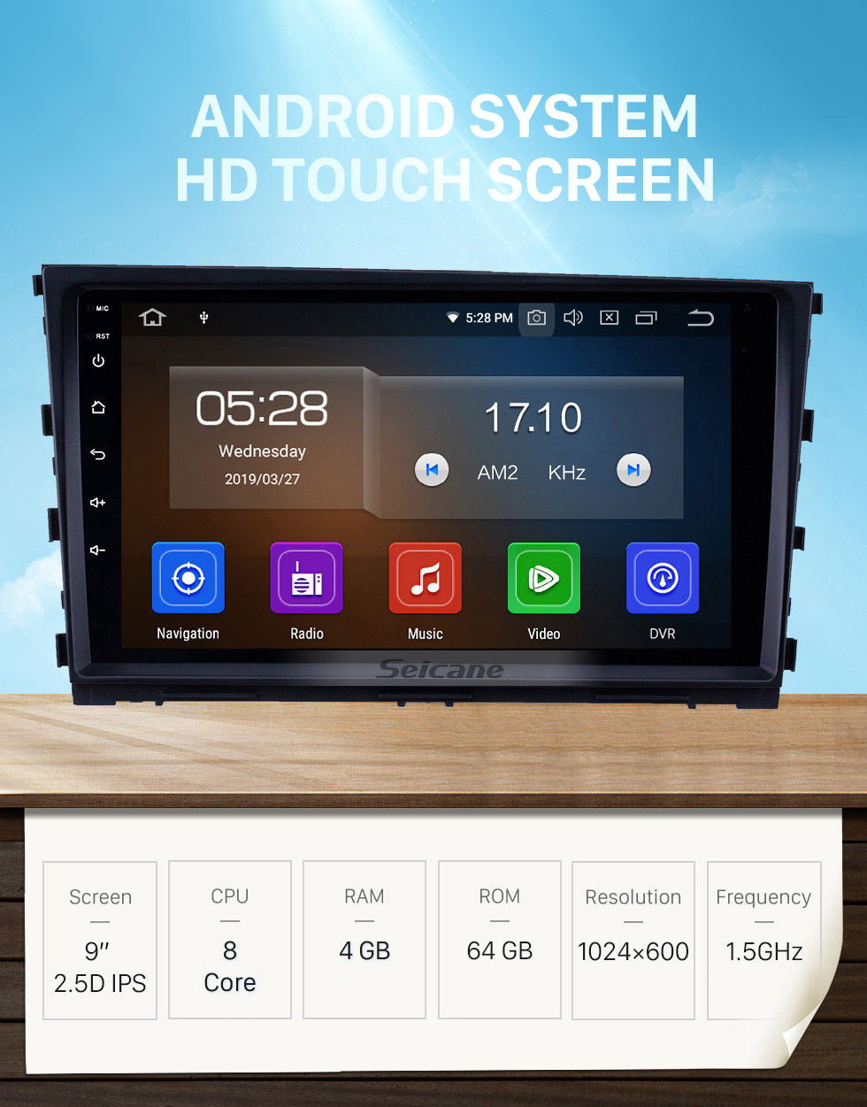 Seicane Android 10.0 9 inch GPS Navigation Radio for 2013-2016 Hyundai MISTRA with HD Touchscreen Carplay Bluetooth WIFI USB AUX support Mirror Link OBD2 SWC