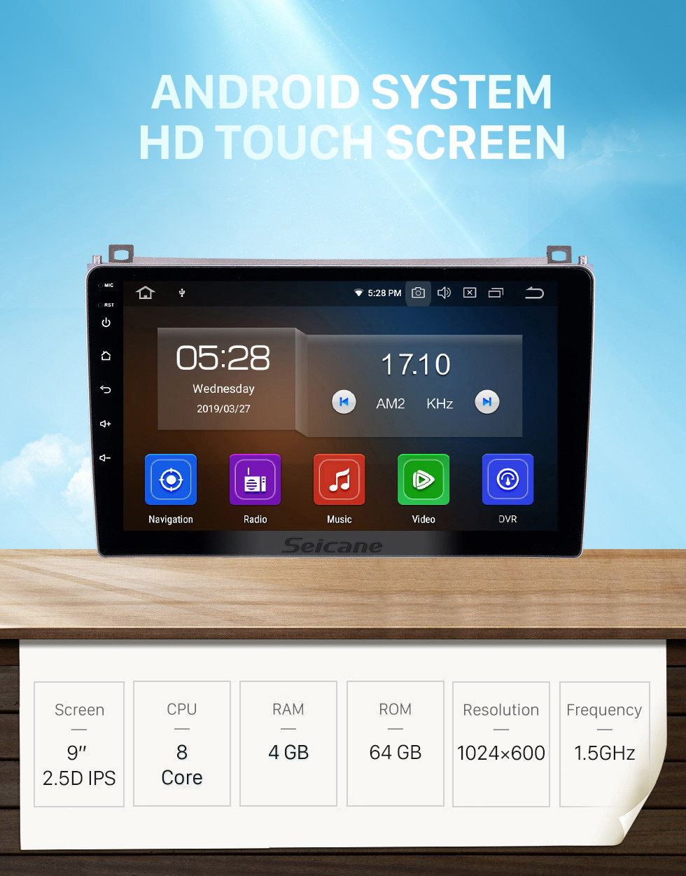 Seicane 2006-2010 Proton GenⅡ Android 10.0 9 pulgadas Navegación GPS Radio Bluetooth HD Pantalla táctil Compatibilidad con USB Carplay Music TPMS DAB + 1080P Video Mirror Link