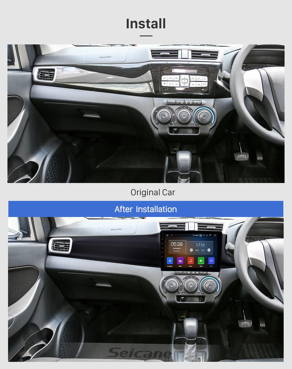 Seicane 10.1 inch Android 10.0 Radio for 2016-2019 Perodua Bezza Bluetooth HD Touchscreen GPS Navigation Carplay USB support TPMS OBD2 Digital TV
