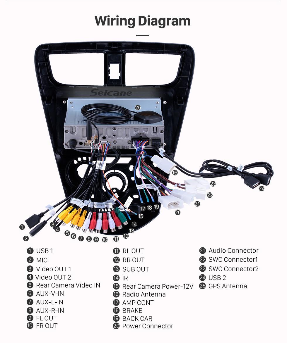 Seicane OEM 9 inch Android 10.0 Radio for 2015 Perodua Axia Bluetooth WIFI HD Touchscreen Music GPS Navigation Carplay USB support Digital TV TPMS