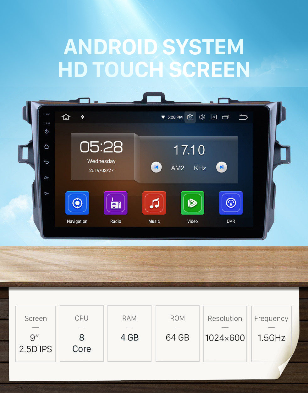 Seicane 9 inch Android 10.0 GPS navigation system for 2006-2011 Toyota COROLLA with Bluetooth Radio HD 1024*600 touch screen OBD2 DVR TV 1080P Video 3G WIFI  Steering Wheel Control  USB SD backup camera  Quad-core CPU Mirror link