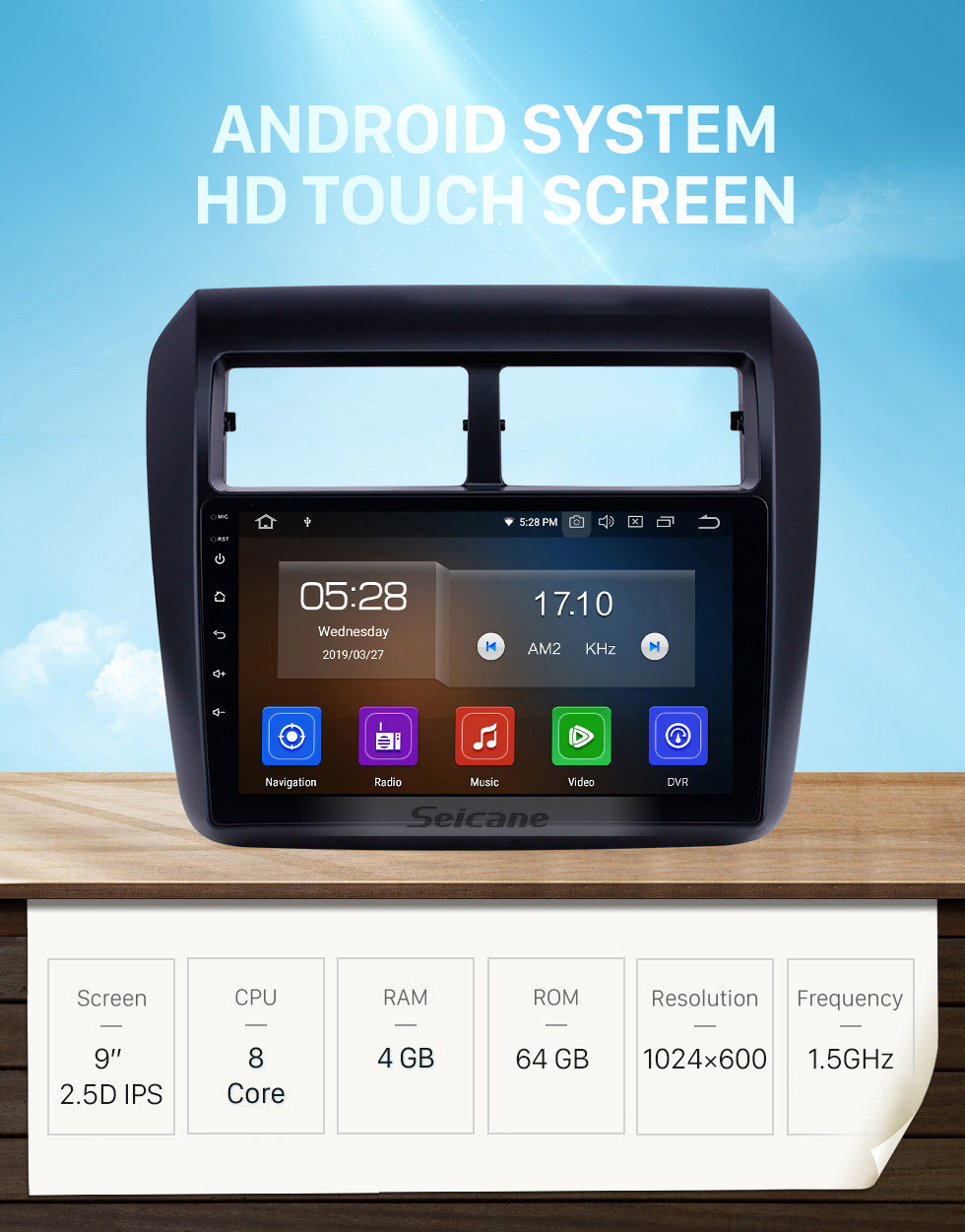 Seicane 2013-2019 Toyota AGYA/WIGO Touchscreen Android 10.0 9 inch GPS Navigation Radio Bluetooth Multimedia Player Carplay Music AUX support Backup camera 1080P