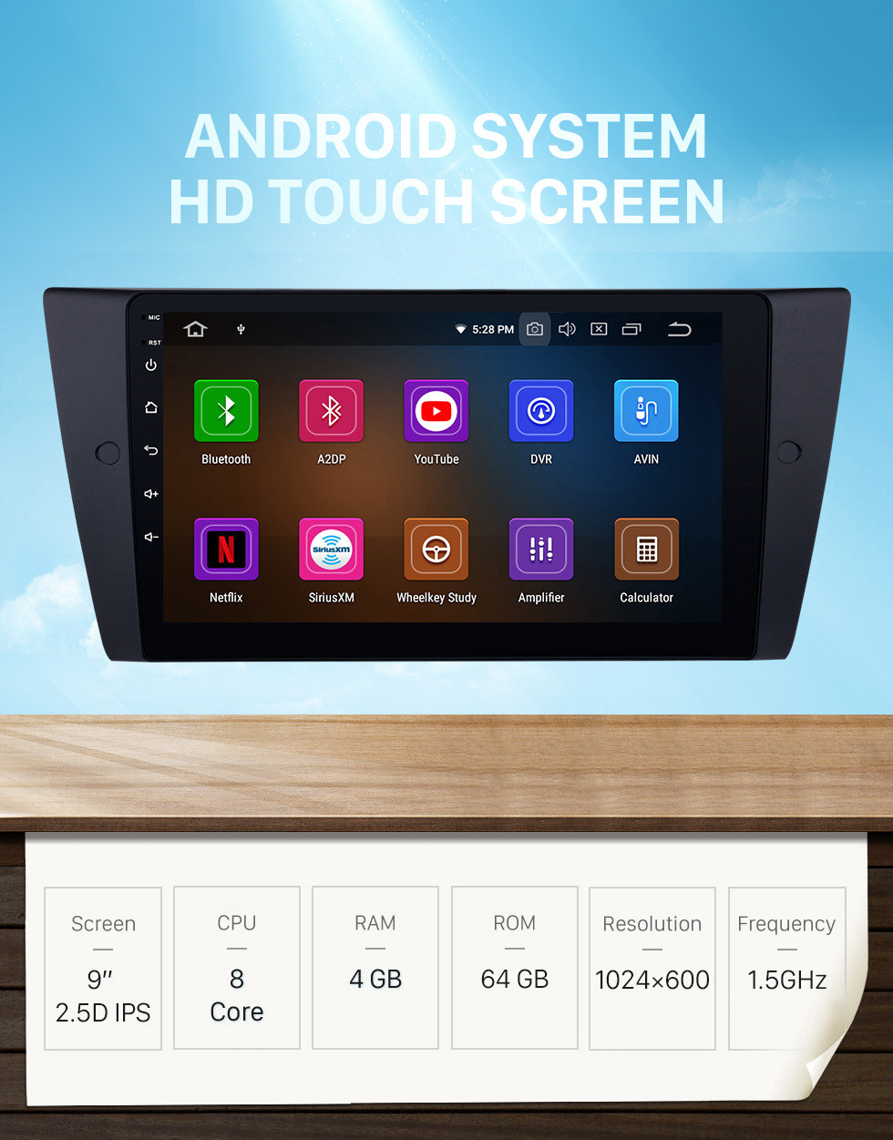 Seicane HD Touchscreen 9 inch Android 10.0 2005-2012 BMW 3 Series E90 E91 E92 E93 316i 318i 320i 320si 323i 325i 328i 330i 335i 335is M3 316d 318d 320d 325d 330d 335d GPS Navi radio tv bluetooth support DVD player 4G WIFI