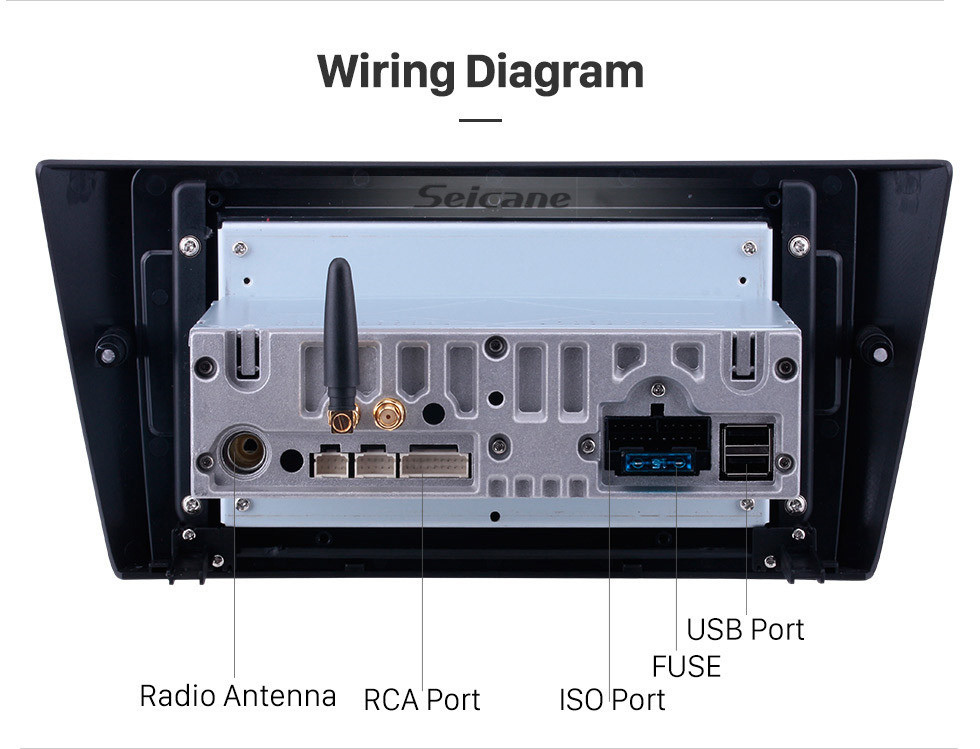 Seicane Android 10.0 Radio DVD Player Stereo for 2005-2012 BMW 3 Series E90 E91 E92 E93 316i 318i 320i 320si 323i 325i 328i 330i 335i 335is M3 316d 318d 320d 325d 330d 335d automatic air GPS Navigation system Support Bluetooth 1080P Video USB Multi-Media Player D