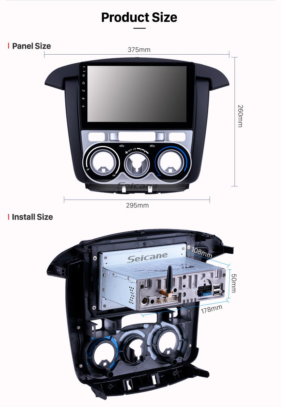 Seicane OEM 9 inch Android 10.0 Radio for 2007-2011 Toyota Innova Manual A/C Bluetooth Wifi HD Touchscreen GPS Navigation Carplay USB support Digital TV TPMS
