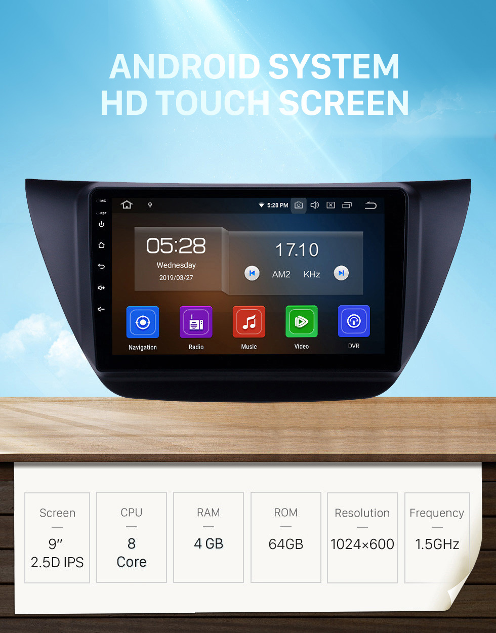 Seicane HD Touchscreen 9 inch Android 10.0 GPS Navigation Radio for 2006-2010 MITSUBISHI LANCER IX with WIFI Carplay Bluetooth USB support RDS OBD2 DVR 4G