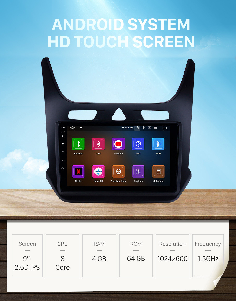 Seicane HD Touchscreen 9 inch Android 10.0 GPS Navigation Stereo for 2016-2018 chevy Chevrolet Cobalt with Bluetooth wifi Carplay support DVR DAB+ Digital TV
