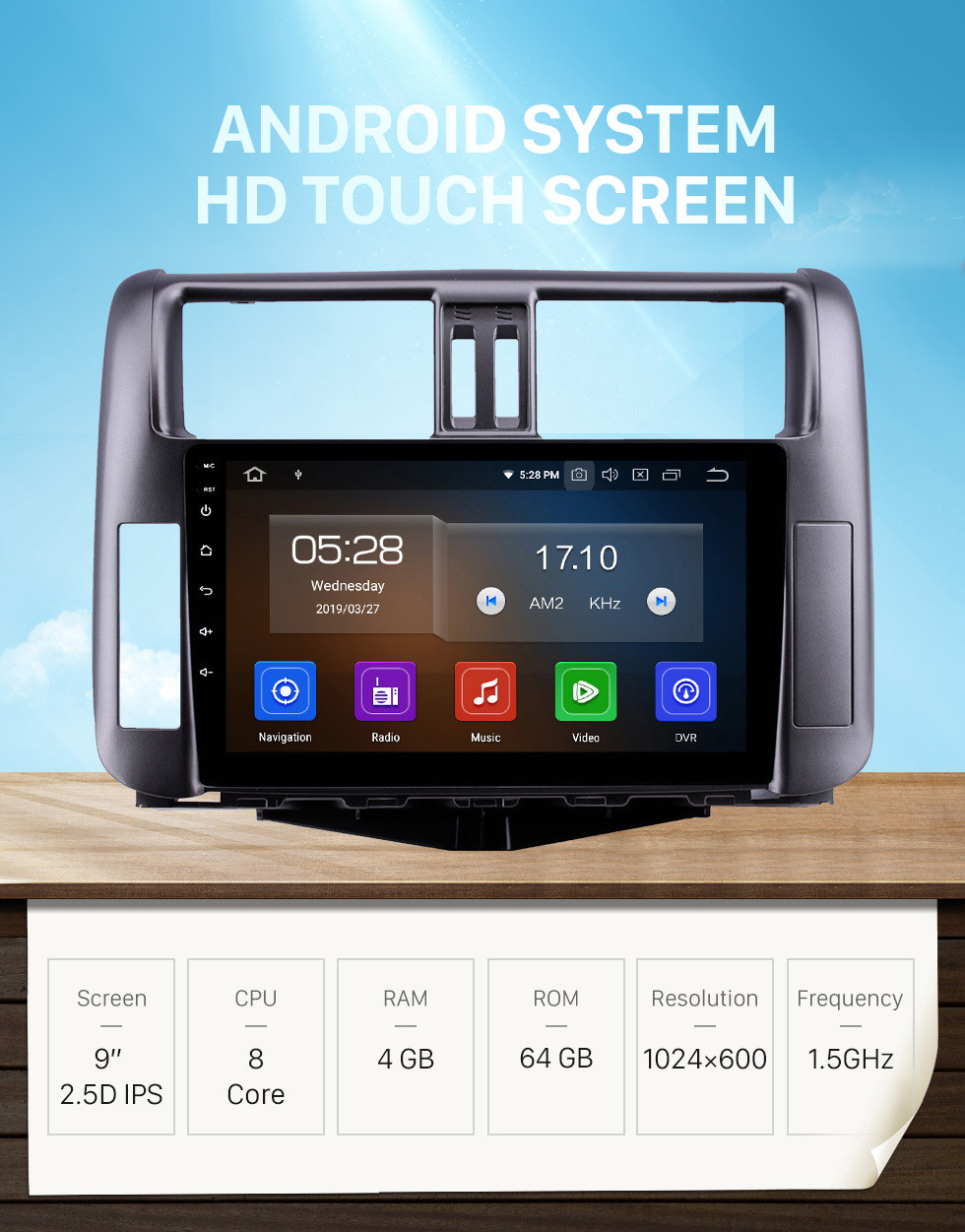 Seicane OEM 9 inch Android 10.0 HD Touchscreen Bluetooth Radio for 2010-2013 Toyota Prado 150 with GPS Navigation USB FM auto stereo Wifi AUX support DVR TPMS Backup Camera OBD2 SWC