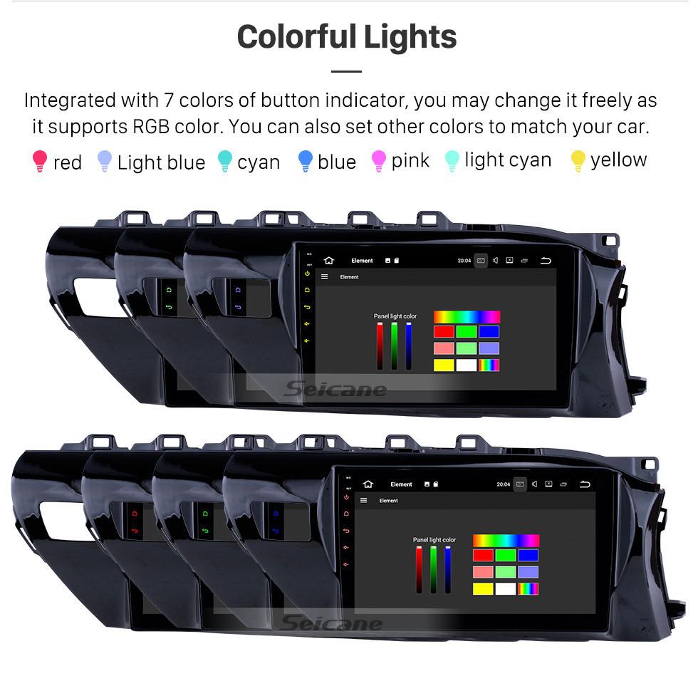Seicane 10.1 inch 2016-2018 Toyota Hilux RHD Android 10.0 GPS Navigation Radio Bluetooth HD Touchscreen AUX Carplay Music support 1080P Video Digital TV