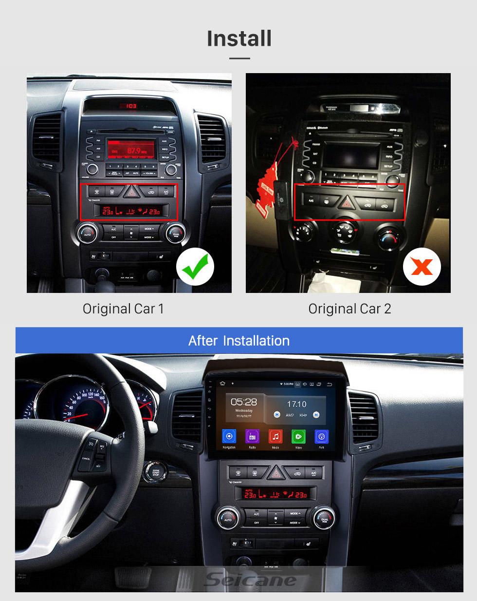 Seicane 10,1 Zoll 2009 2010 2011 2012 KIA Sorento Android 10.0 GPS-Navigationssystem radio Bluetooth 4G Wlan Rückfahrkamera USB DVD-Player TPMS Rückfahrkamera 1080P