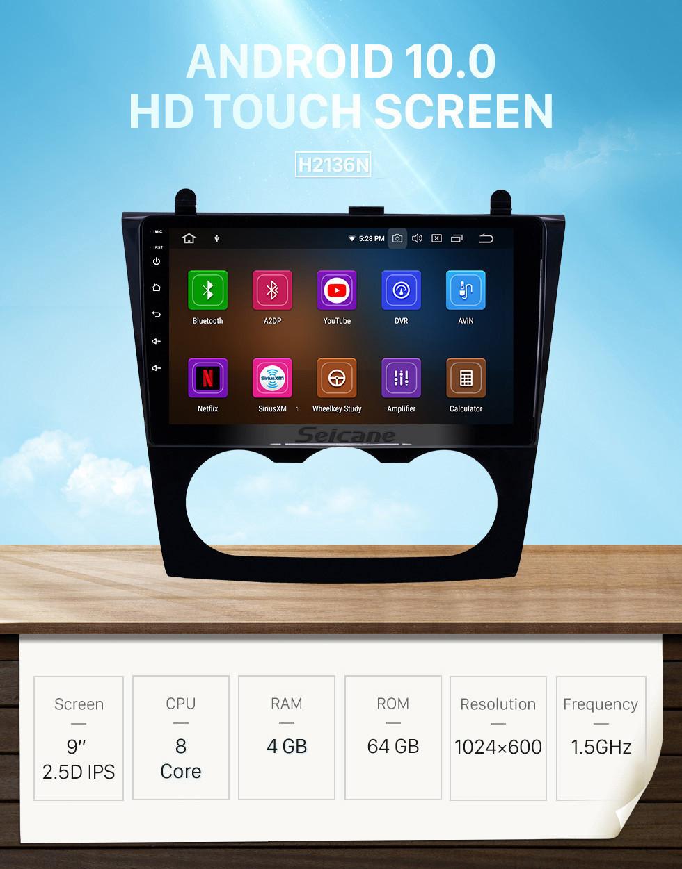 Seicane 9 inch OEM HD Touchscreen Android 10.0 GPS Navi Radio for 2008-2012 Nissan Teana Altima Manual A/C Head unit USB Bluetooth 4G WIFI Mirror Link SWC DVR