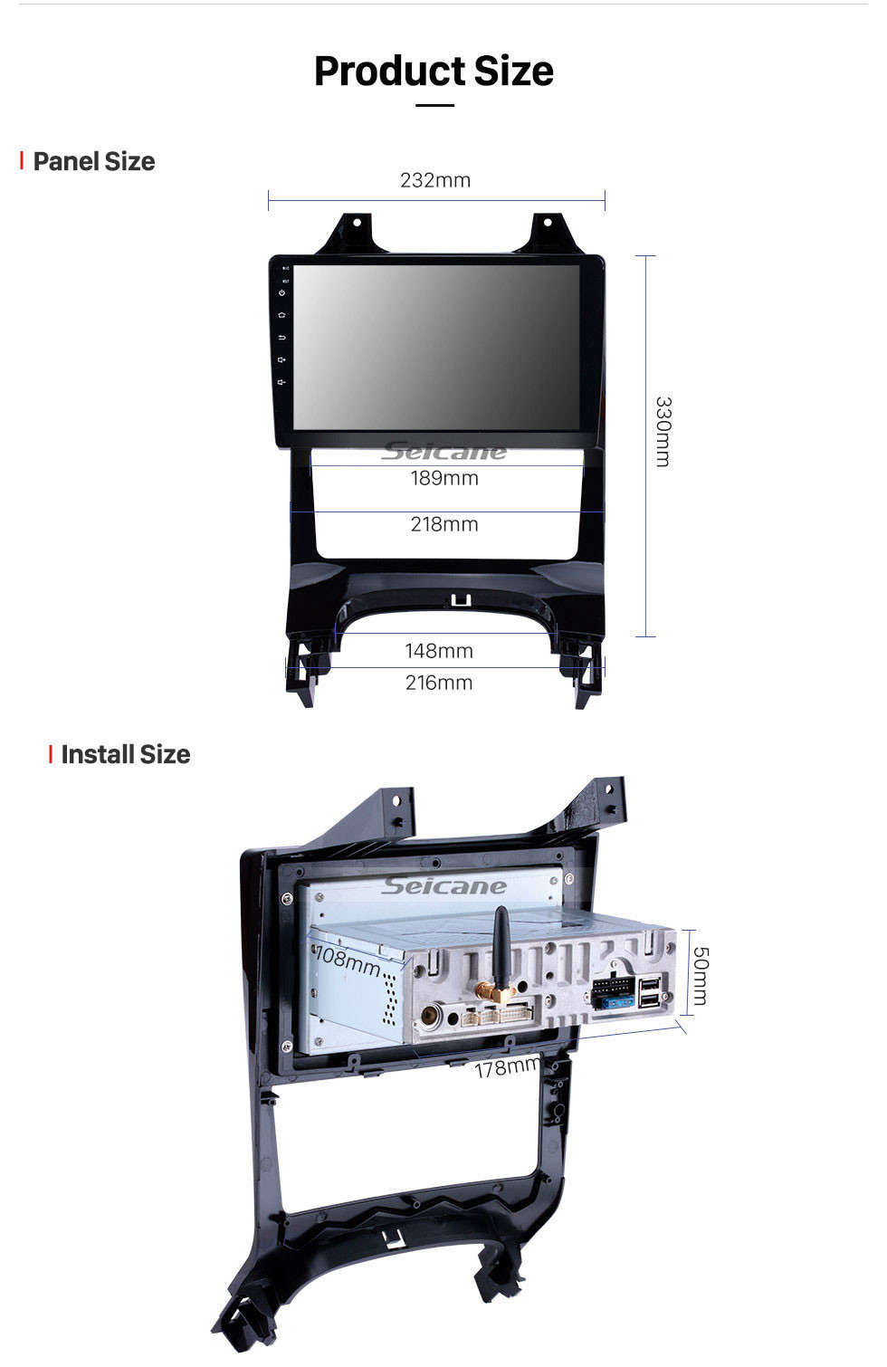 Seicane 2009-2012 Peugeot 3008 9 inch Android 10.0 1024*600 touchscreen Car Stereo Radio GPS Navigation System Bluetooth Music 4G WIFI 1080P Video Steering Wheel Control