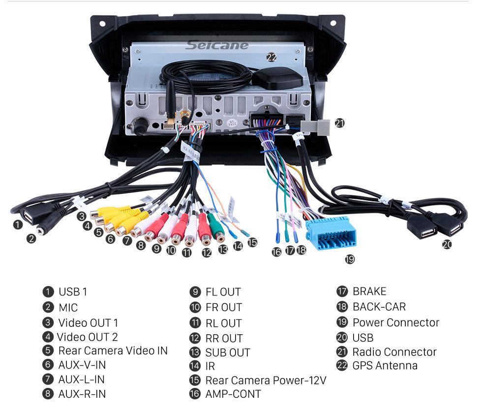 Seicane Android 10.0 HD Touchscreen 9 polegada de Rádio para 2009-2016 Suzuki Alto com Navegação GPS Bluetooth Wifi música USB Espelho Link suporte DVD 1080 P Vídeo Carplay TPMS módulo 4G TV Digital