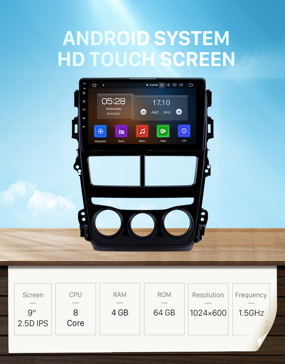 Seicane 2018 Toyota vios Manual Air Conditioner 9 inch Android 10.0 HD Touchscreen GPS Navigation Radio Bluetooth USB Carplay DVD Player Steering Wheel Control TPMS 4G WIFI