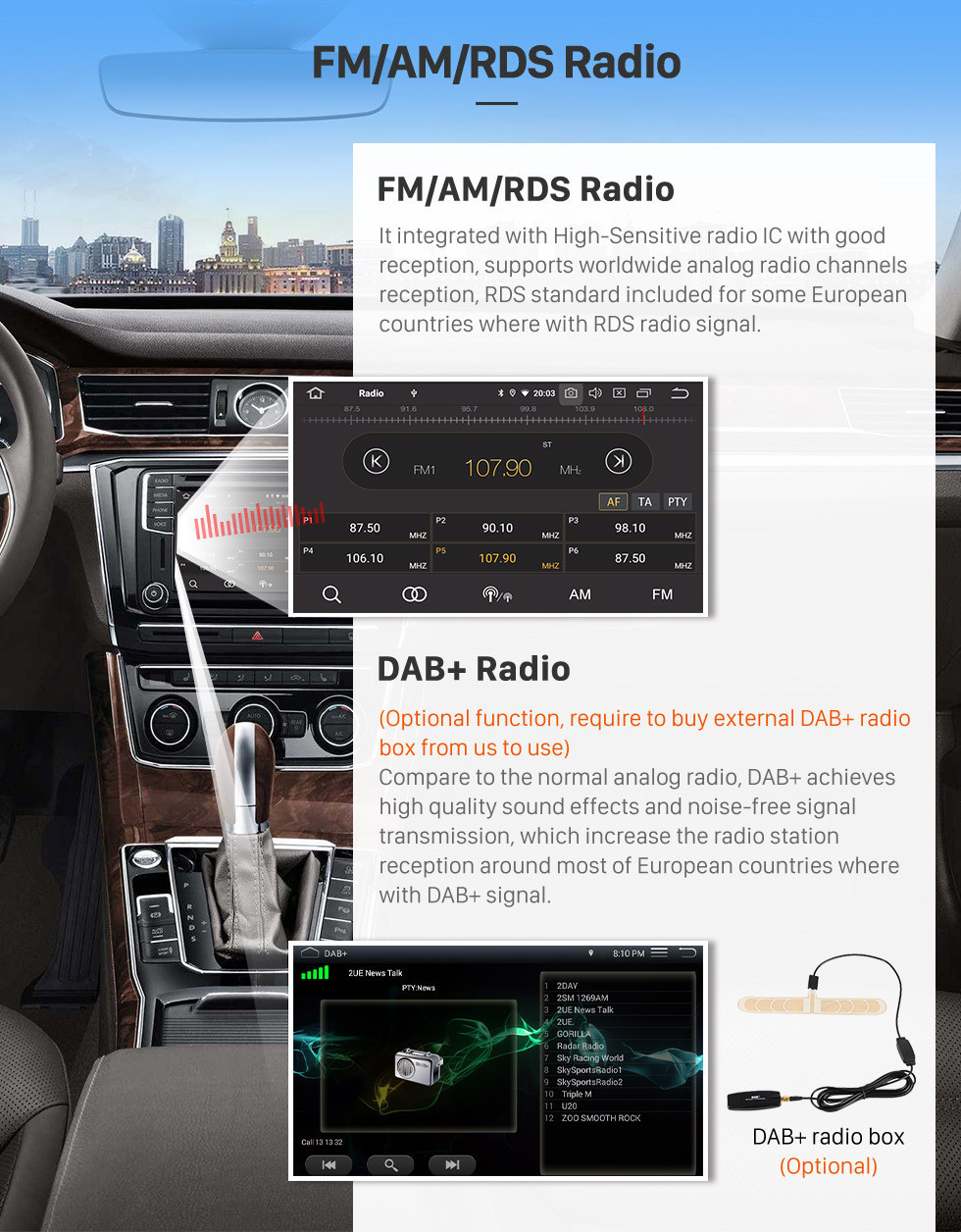 Seicane All in one 2018 Toyota vios Auto Air Conditioner 9 inch Android 10.0 Multimedia Radio  GPS Navigation HD Touchscreen Bluetooth Music USB AUX Steering Wheel Control DVD Player 3G/4G WIFI