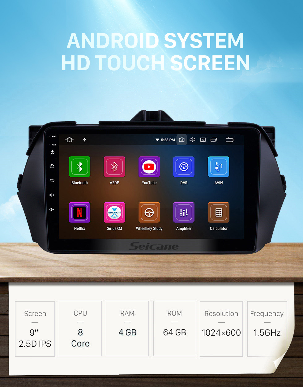 Seicane 2016 SUZUKI Alivio Android 10.0 HD Touchscreen DVD Player GPS Navigation system Radio with Bluetooth USB WIFI Mirror Link 1080P Video
