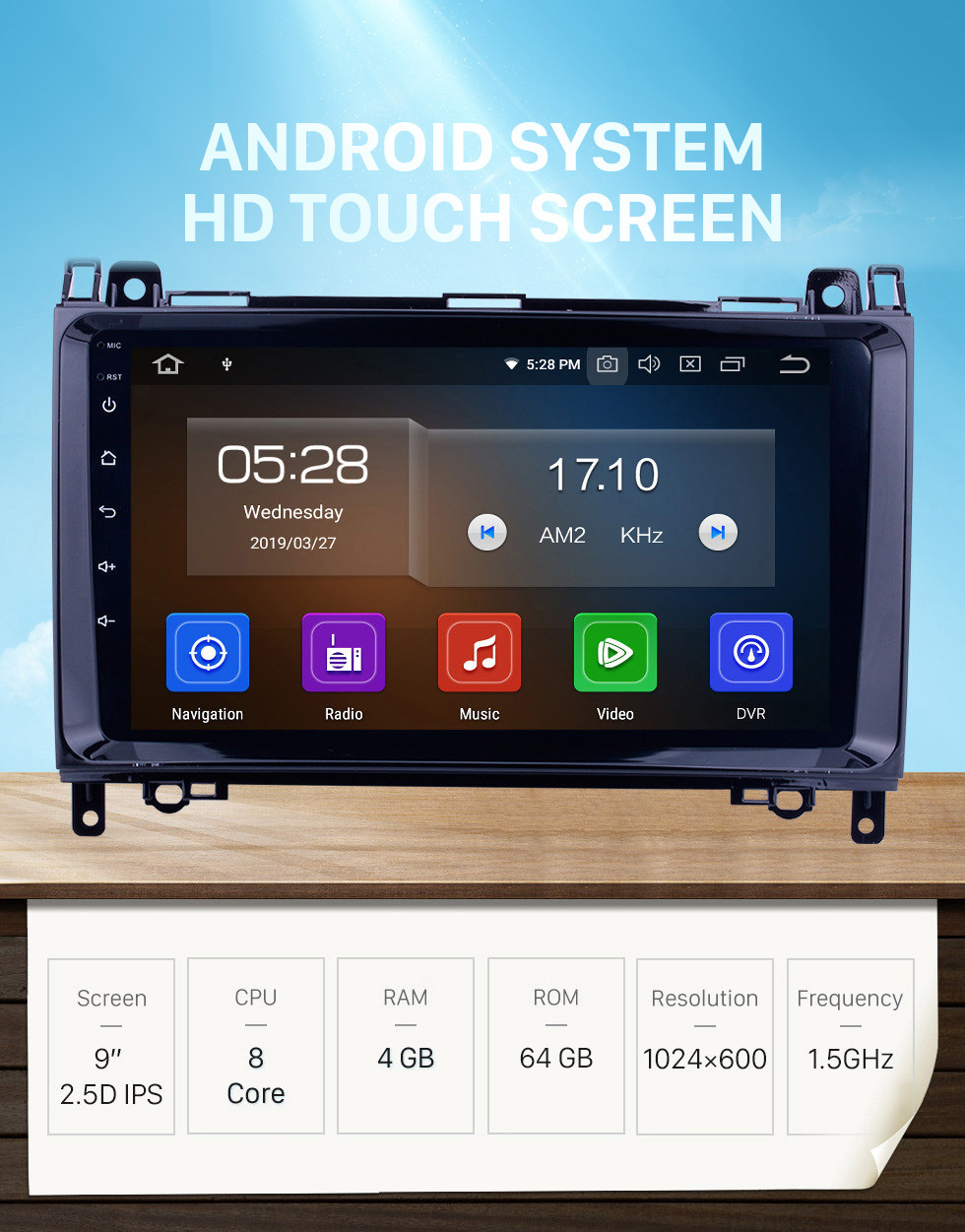 Seicane 9 inch HD 1024*600 Touch Screen Android 10.0 2006-2012 Mercedes Benz Sprinter 211 213 216 218 224 309 311 313 315 316 CDI Autoradio Navigation Head Unit with CD DVD Player Bluetooth AUX 3G WiFi HD 1080P OBD2 Mirror Link Backup Camera