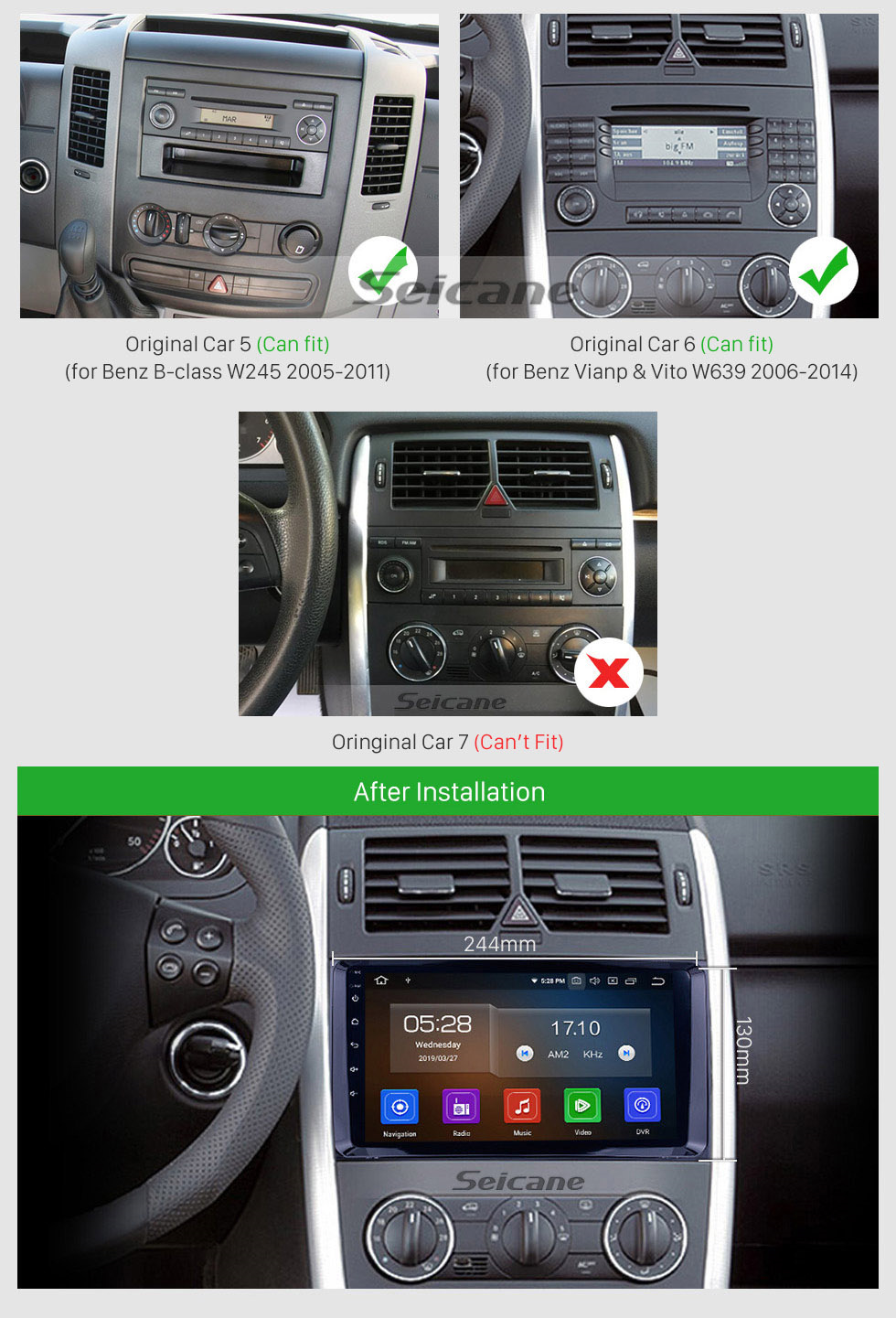 Seicane 9 inch Android 10.0 Aftermarket Radio for 2000-2015 VW Volkswagen Crafter for DVD player Bluetooth music GPS navigation system car stereo WiFi Mirror Link HD 1080P Video