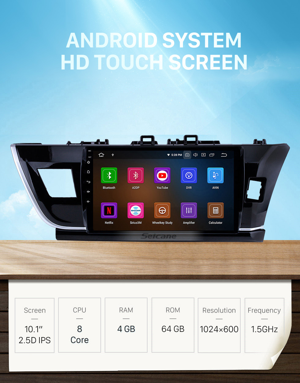 Seicane 10.1 inch Android 10.0 HD touchscreen Radio GPS Navigation System for 2014 Toyota Corolla RHD Bluetooth Rearview camera TV 1080P 4G WIFI Steering Wheel Control Mirror link