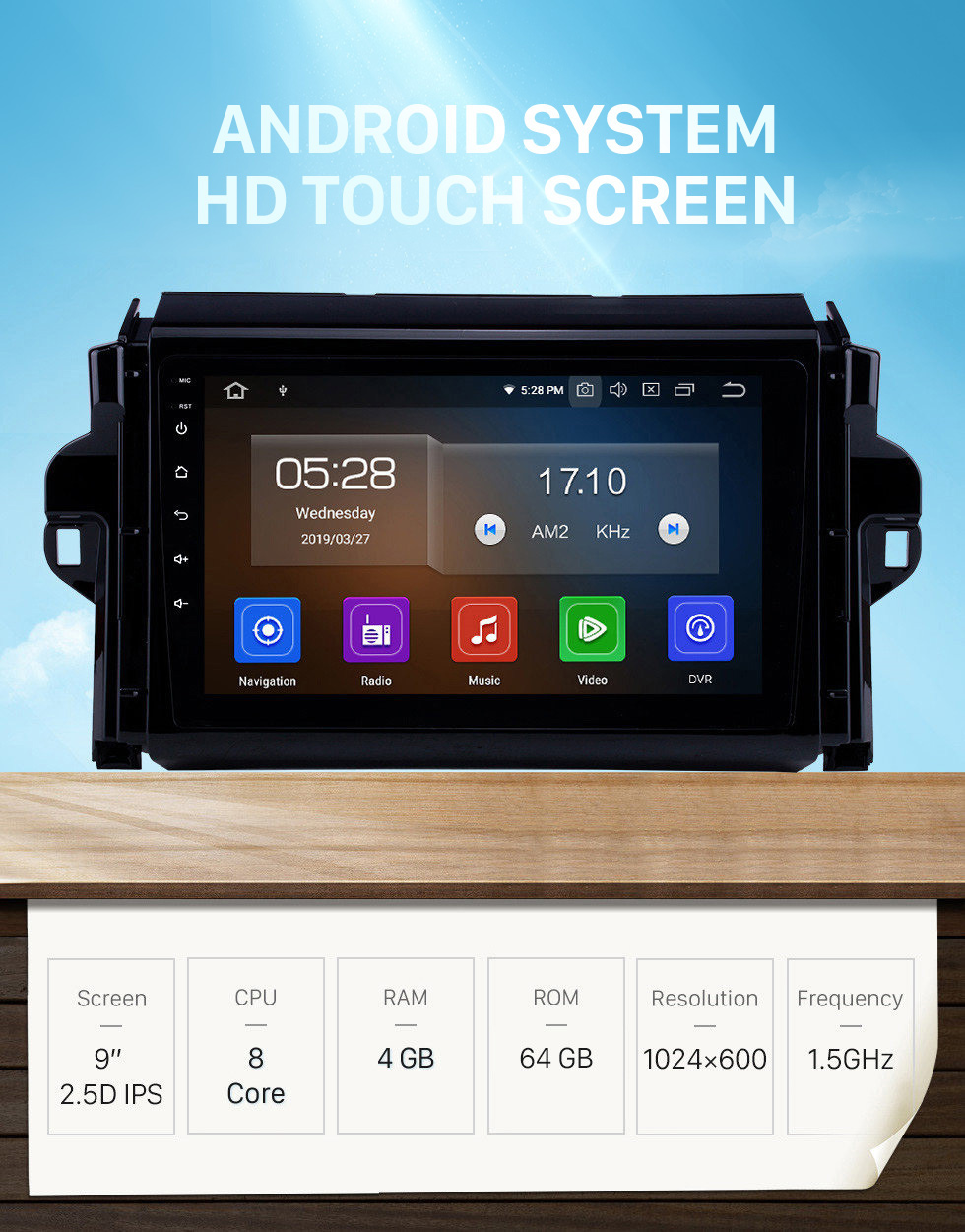 Seicane 9 inch Android 10.0 HD Touchscreen auto stereo GPS Radio GPS Navigation System For 2015-2018 TOYOTA FORTUNER/ COVERT Bluetooth Support DVR Vedio Carplay 3G/4G WIFI Steering Wheel Control