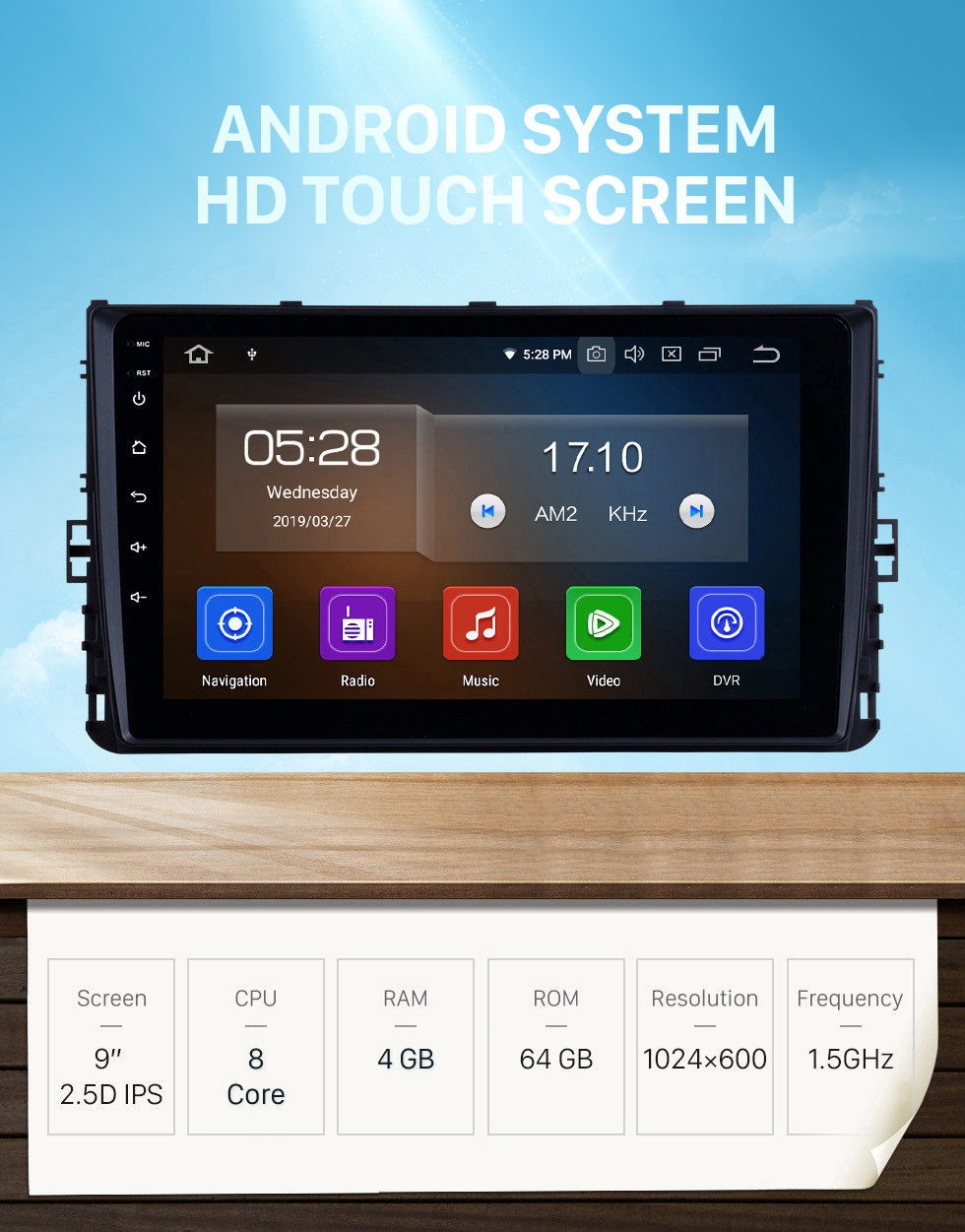 Seicane OEM 9 inch HD Touchscreen GPS navigation system Android 10.0 for 2018 VW Volkswagen Universal Support 3G/4G WiFi Radio Bluetooth Vedio Carplay Steering Remote Control