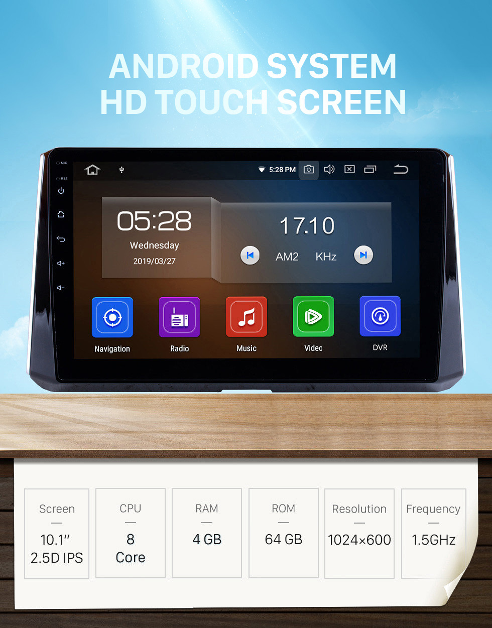 Seicane 10.1 inch Android 10.0 2019 Toyota Corolla GPS Navigation system Support Radio IPS Full Screen 3G WiFi Bluetooth OBD2 Steering Wheel Control