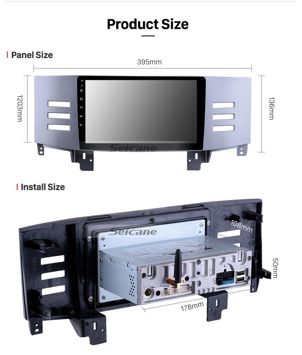 Seicane 9 inch 2005 2006 2007 2008 2009 Toyota Old Reiz Android 10.0 HD Touchscreen Radio GPS Navigation system Support Bluetooth OBD2 USB WIFI DVR Mirror Link Carplay