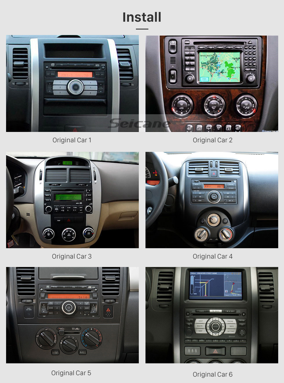Seicane Android 10.0 Lecteur de DVD autoradio universel Système de navigation GPS avec système audio RDS Bluetooth USB Lien miroir SD OBD2 WiFi Commande de volant 1080P Vidéo numérique