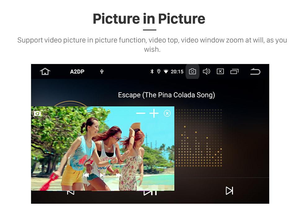 Seicane Android 10.0 Универсальный автомобильный радиоприемник DVD-плеер Система GPS-навигации с аудиосистемой RDS Bluetooth USB SD Mirror Link OBD2 WiFi Управление рулевого колеса 1080P Видео Цифровое ТВ