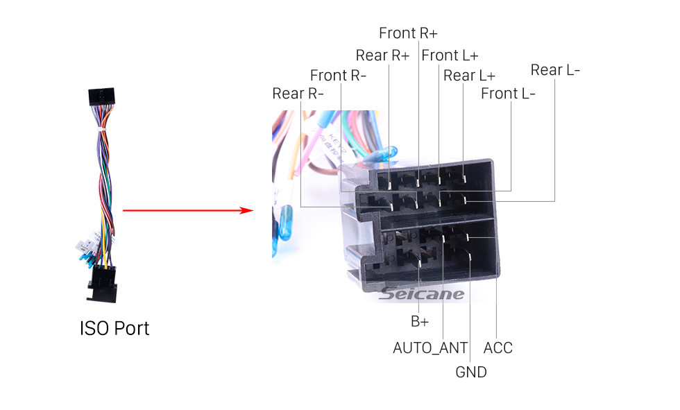 Seicane Android 10.0 Universal Car Radio Reproductor de DVD Sistema de navegación GPS con sistema de audio RDS Bluetooth USB SD Mirror Link OBD2 WiFi Control del volante 1080P Video Digital TV