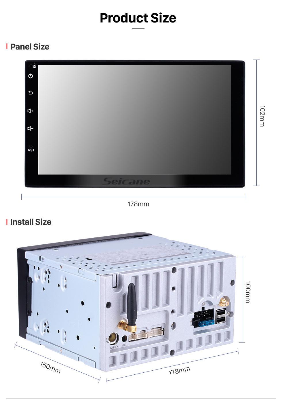 Seicane 6.2 pouces Navigation GPS Radio universelle Android 10.0 Bluetooth HD Écran tactile AUX Musique support 1080P TV numérique TPMS Carplay