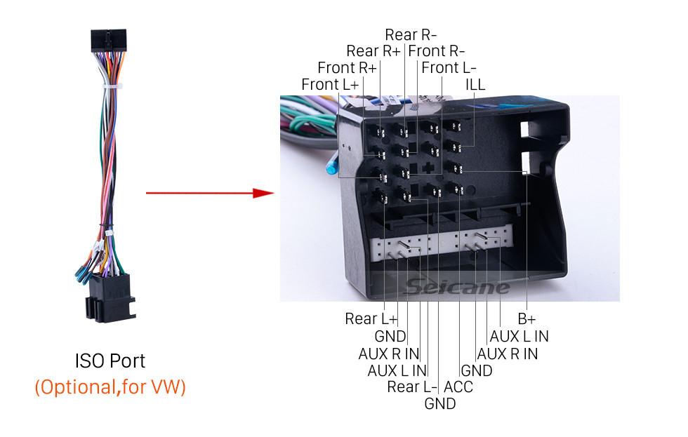 Seicane 9 pouces 2006-2012 VW VOLKSWAGEN MAGOTAN Android 10.0 HD à écran tactile Radio Navigation GPS avec Bluetooth WIFI 1080P USB Miroir Lien DVR Caméra de recul