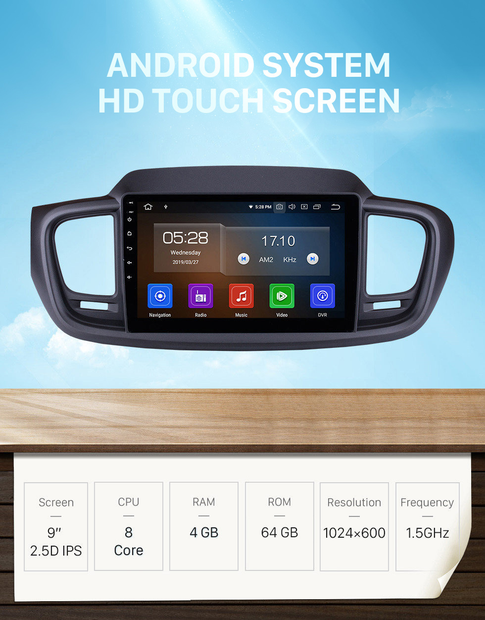 Seicane 9 Inch Android 10.0 GPS navigation system Radio for 2015 2016 Kia Sorento with Mirror link HD 1024*600 touch screen OBD2 DVR Rearview camera TV 1080P Video 3G WIFI Steering Wheel Control Bluetooth USB