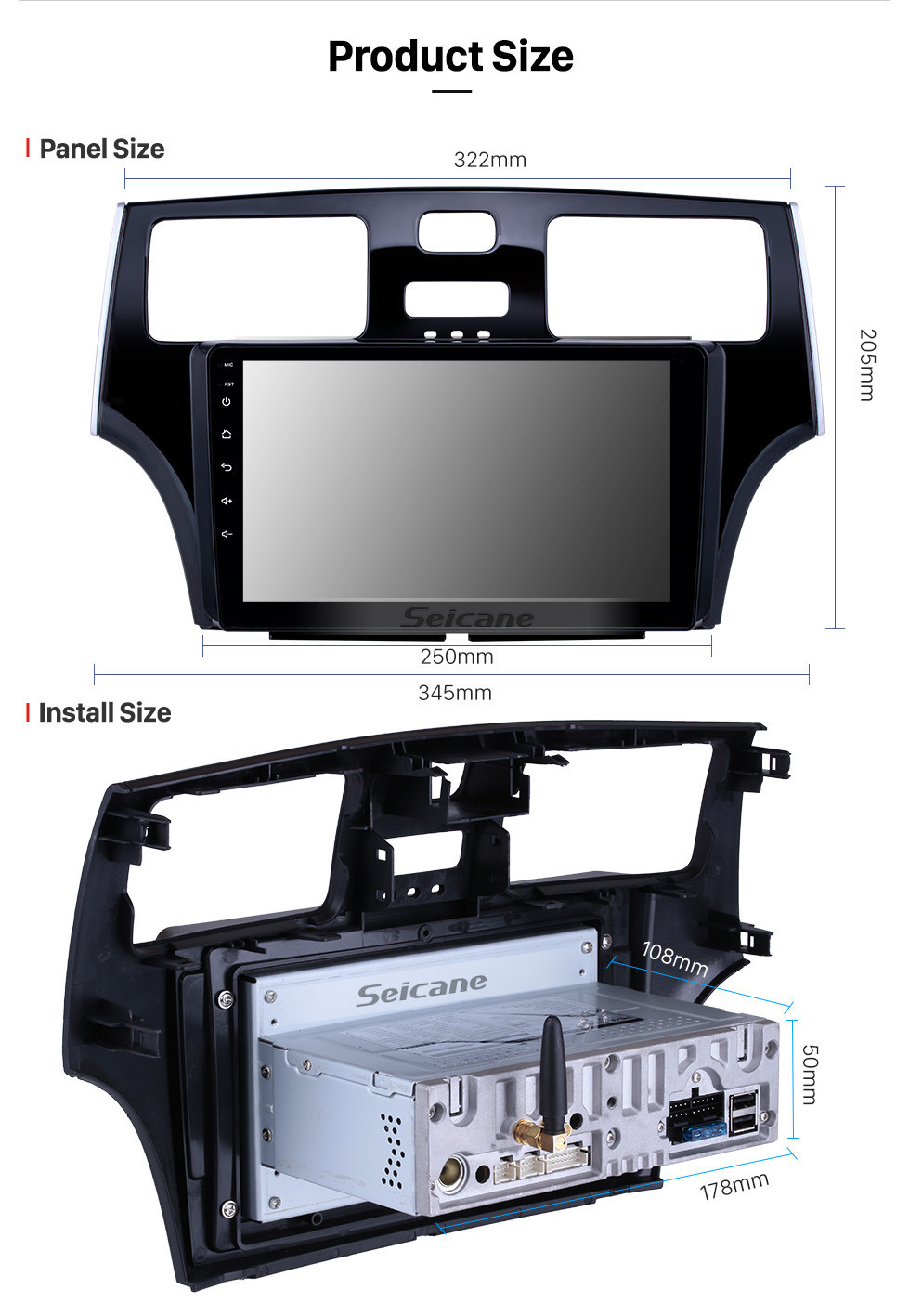 Seicane 2001 2002 2003 2004 2005 Lexus ES300  Android 10.0 HD Touchscreen 9 inch Radio GPS Navigation Bluetooth FM SWC WIFI USB Carplay Backup Camera