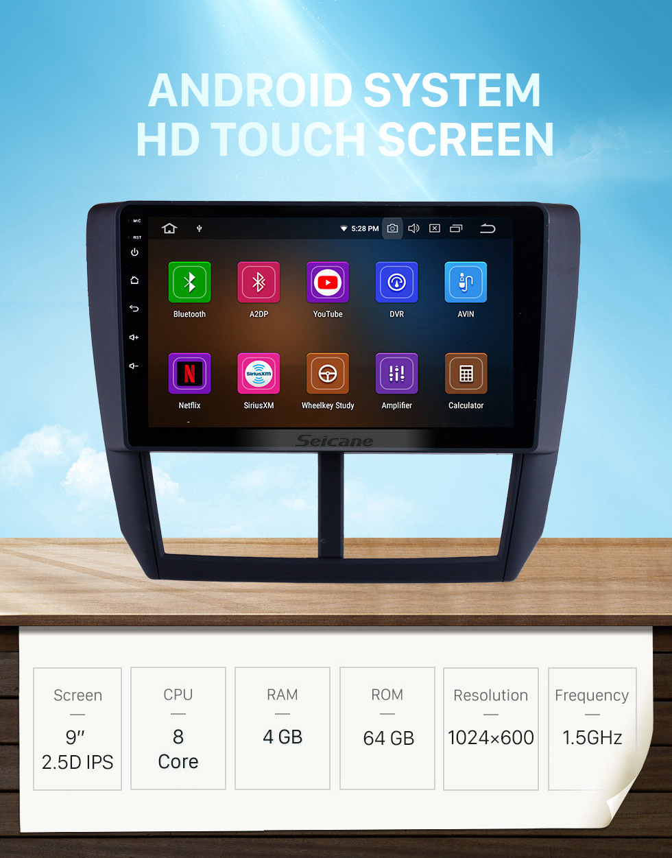 Seicane 9 inch Android 10.0 2008 2009 2010 2011 2012 Subaru Forester HD Touchscreen Head Unit GPS Radio GPS Navigation System Bluetooth Support Steering Wheel Control DVR Vedio Carplay 3G/4G WIFI