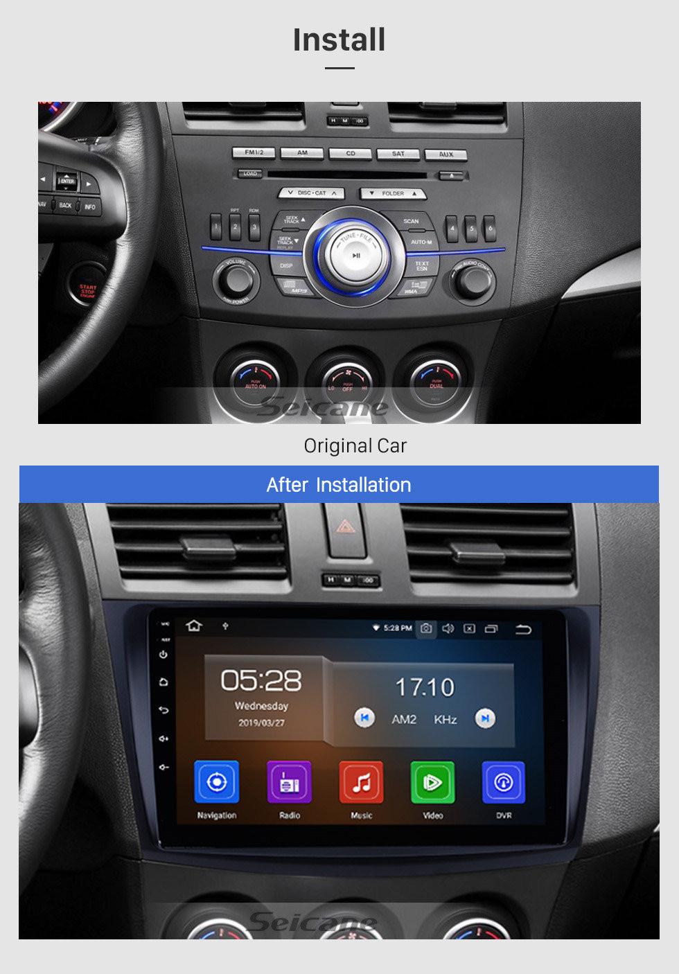 Seicane 9-дюймовый Android 10.0 Autoradio Stereo для 2009 2010 2011 2012 MAZDA 3 GPS радионавигационная система с Bluetooth Зеркальная связь HD сенсорный экран OBD DVR Камера заднего вида ТВ USB 3G WIFI