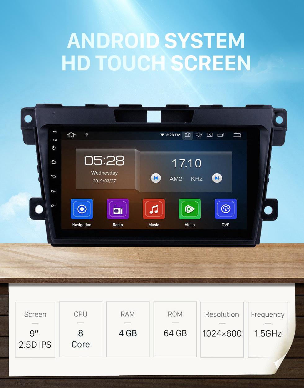 Seicane 2007-2014 Mazda CX-7 9 inch Android 10.0 GPS Navigation System support DVD Player Mirror Link Multi-touch Screen OBD DVR Bluetooth Rearview Camera TV USB 4G WIFI